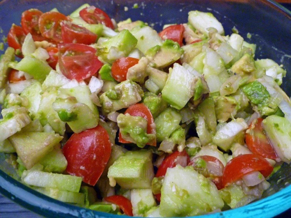 print cucumber avocado salad total time 15 minutes yield serves