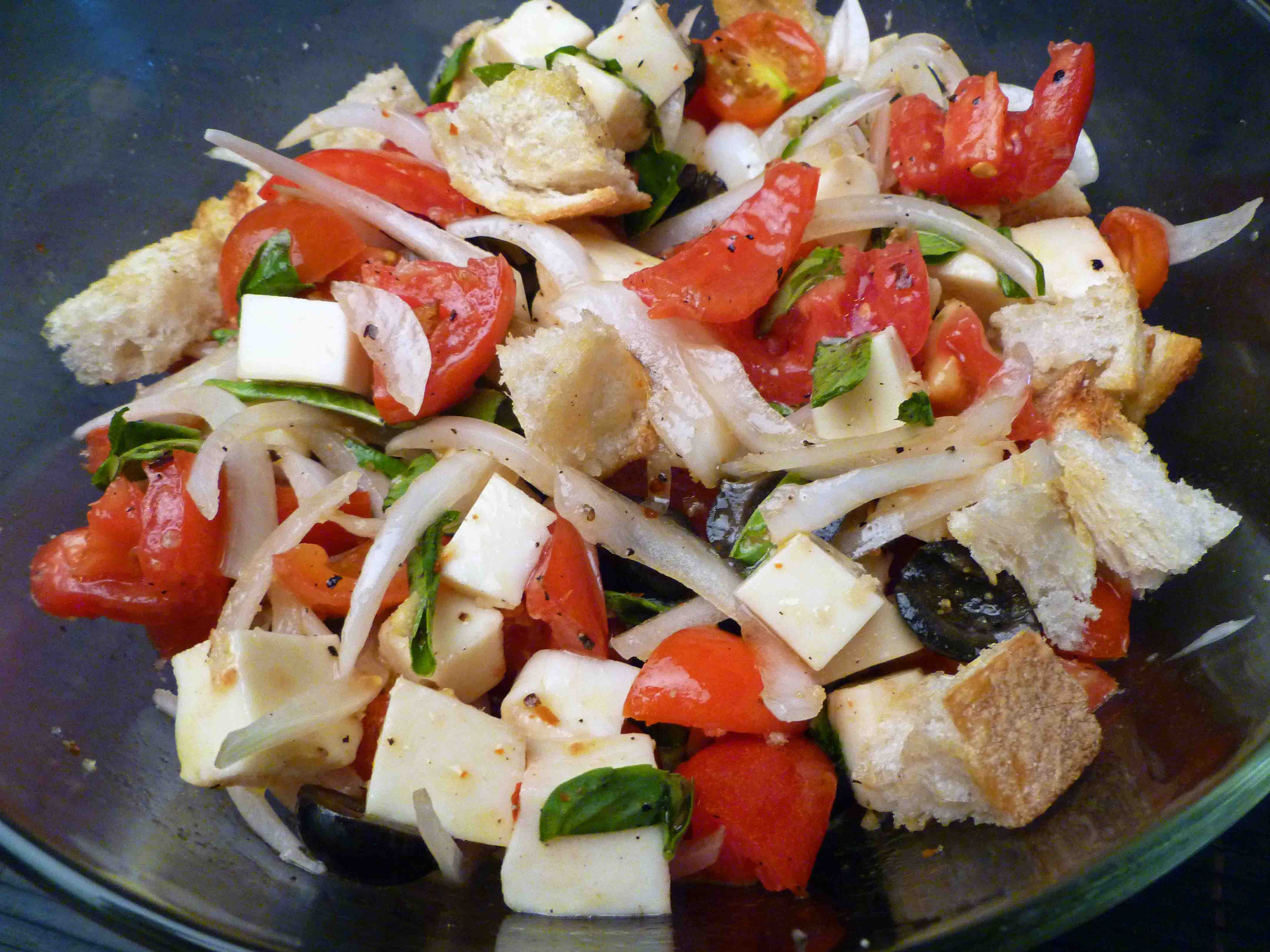 Panzanella Caprese Salad | Centex Cooks